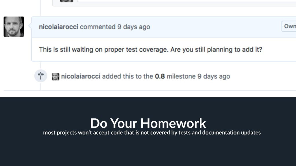 37 Do Your Homework most projects won't accept ...