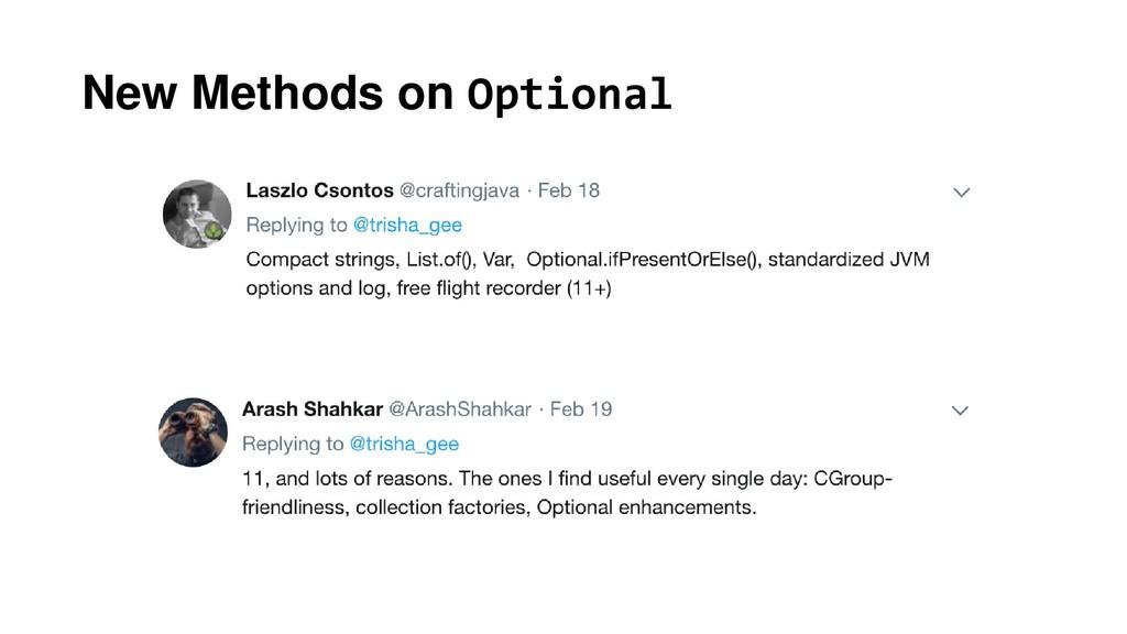 New Methods on Optional