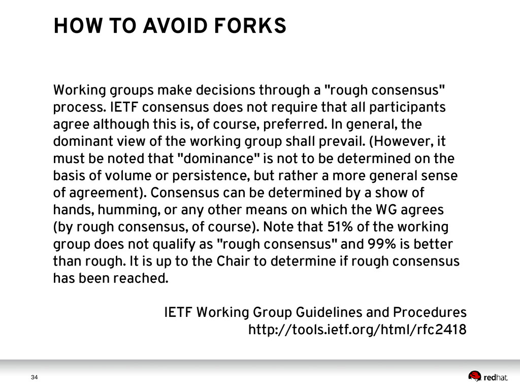 3 4 34 HOW TO AVOID FORKS Working groups make d...