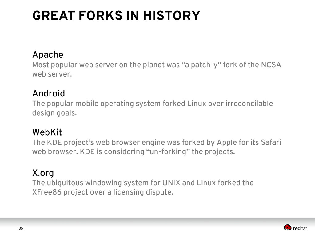 3 5 35 GREAT FORKS IN HISTORY Apache Most popul...