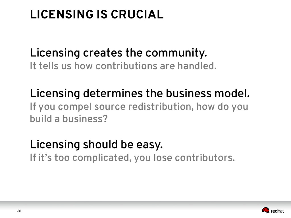 3 8 38 LICENSING IS CRUCIAL Licensing creates t...