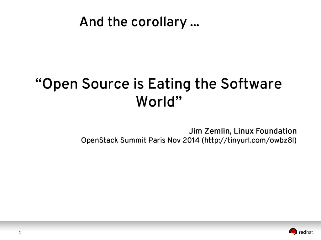 "5 5 ""Open Source is Eating the Software World"" ..."
