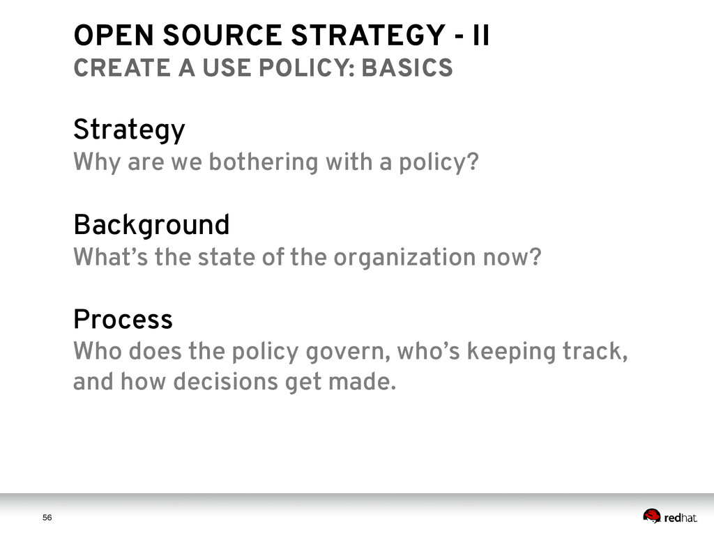 5 6 56 OPEN SOURCE STRATEGY - II CREATE A USE P...