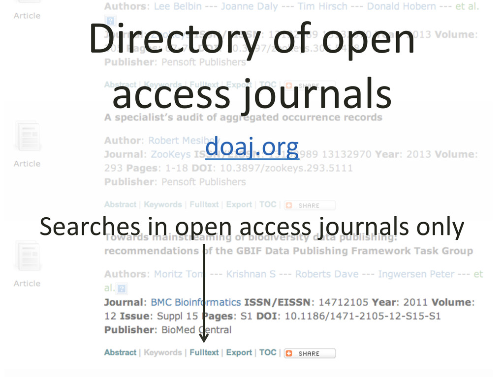 Directory of open   access journ...