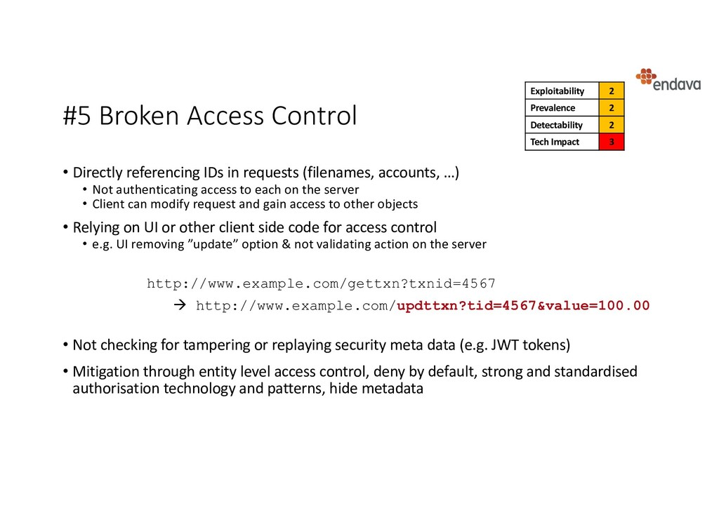 #5 Broken Access Control • Directly referencing...