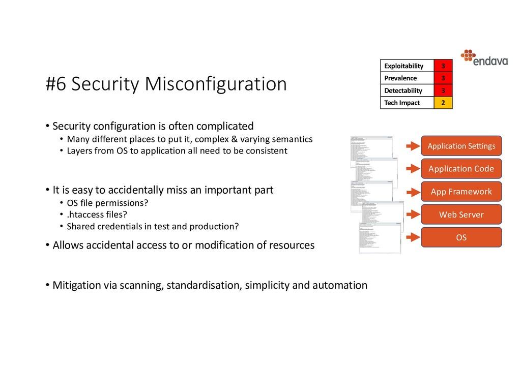 #6 Security Misconfiguration • Security configu...