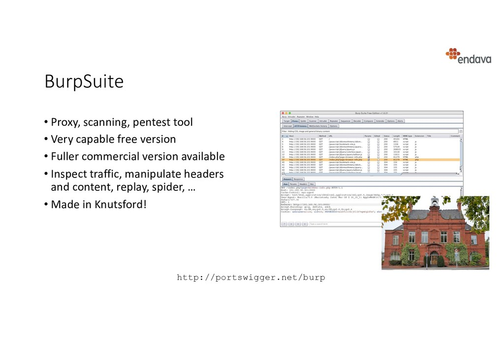 BurpSuite • Proxy, scanning, pentest tool • Ver...