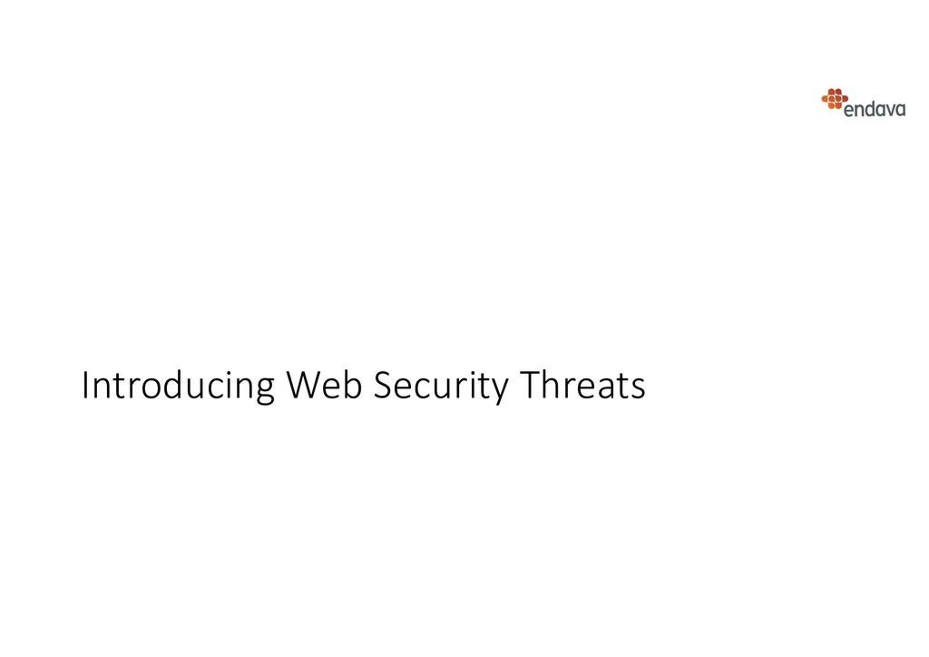 Introducing Web Security Threats