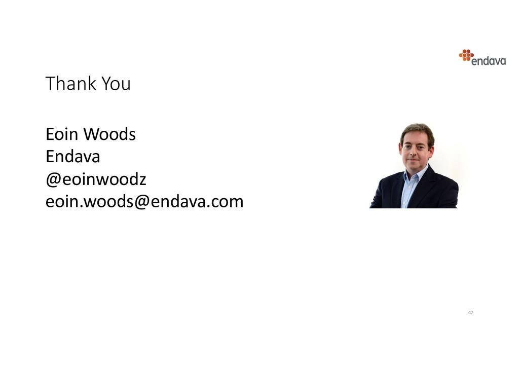 Eoin Woods Endava @eoinwoodz eoin.woods@endava....