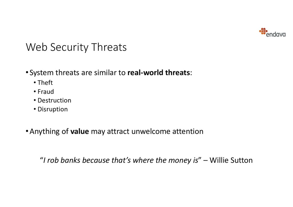 Web Security Threats •System threats are simila...