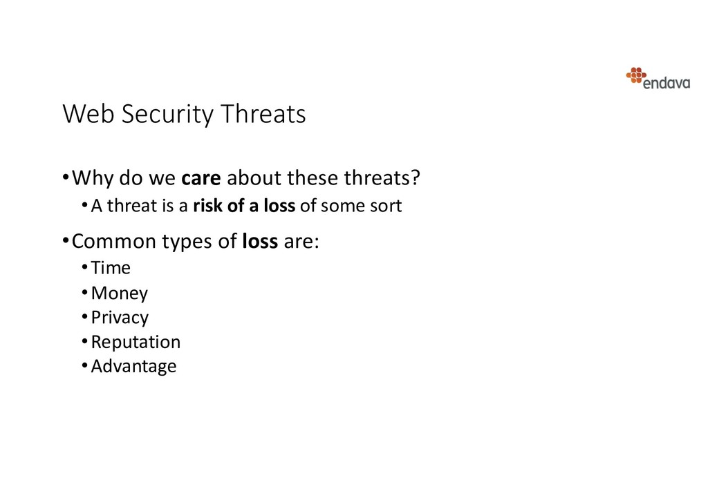Web Security Threats •Why do we care about thes...