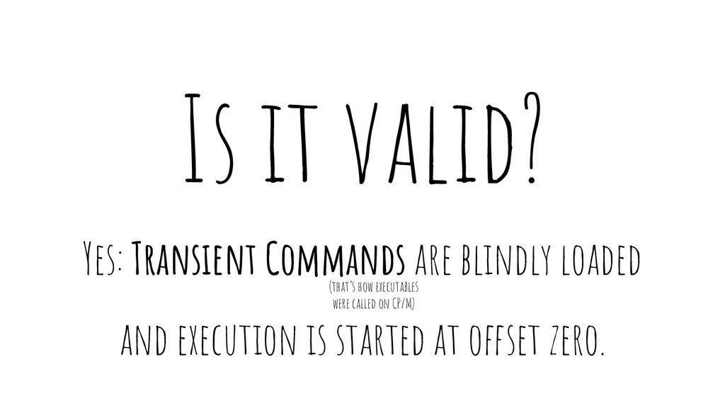 Is it valid? Yes: Transient Commands are blindl...