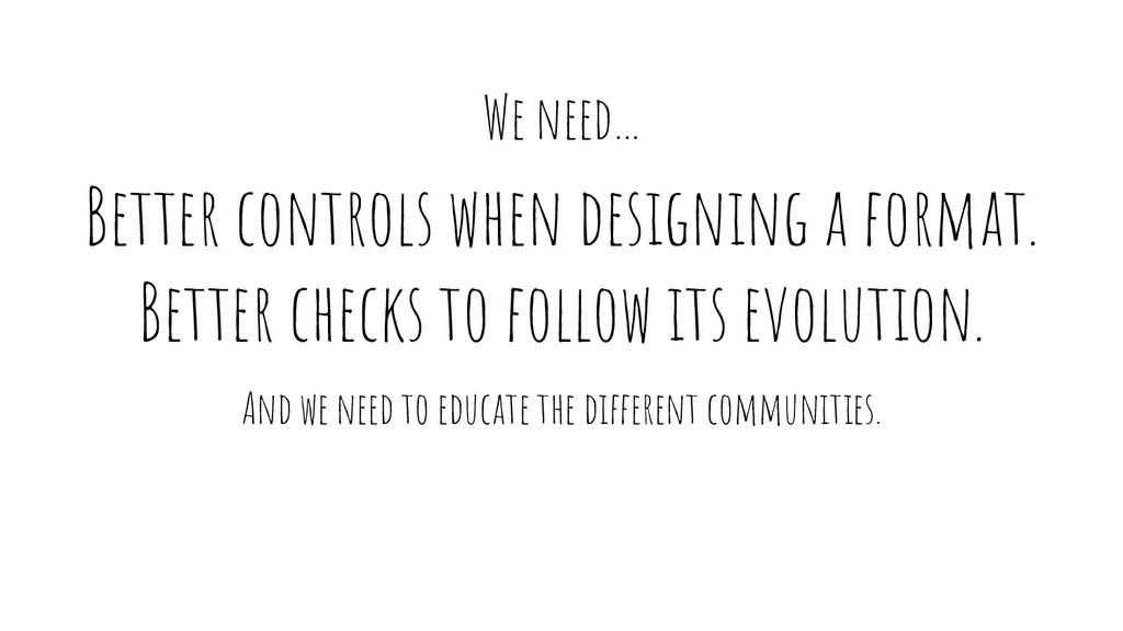 Better controls when designing a format. Better...