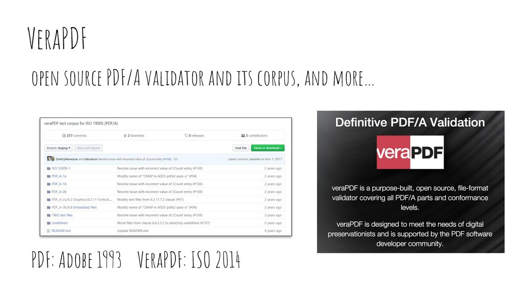 VeraPDF open source PDF/A validator and its cor...