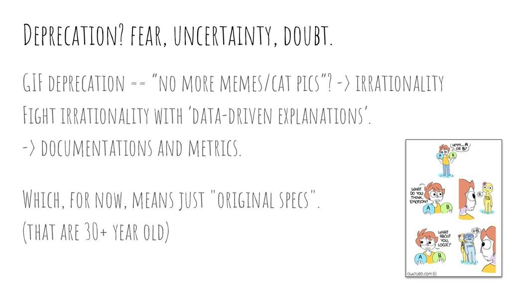 Deprecation? fear, uncertainty, doubt. GIF depr...