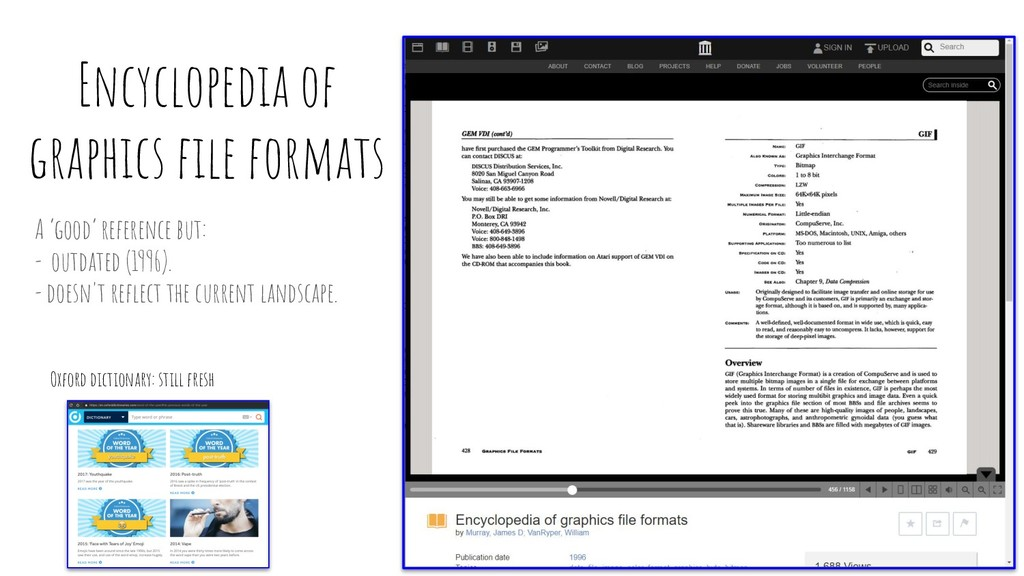 Encyclopedia of graphics file formats A 'good' r...