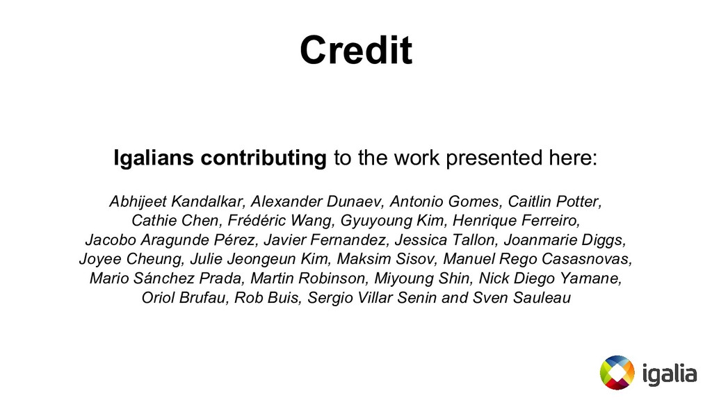 Credit Igalians contributing to the work presen...