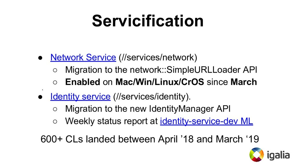 Servicification ● Network Service (//services/n...