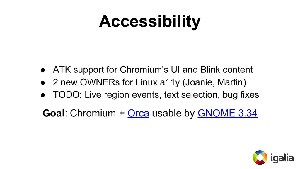 Accessibility ● ATK support for Chromium's UI a...