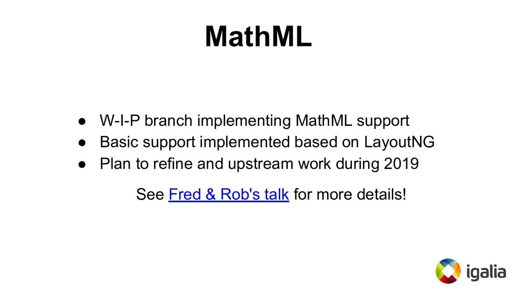 MathML ● W-I-P branch implementing MathML suppo...