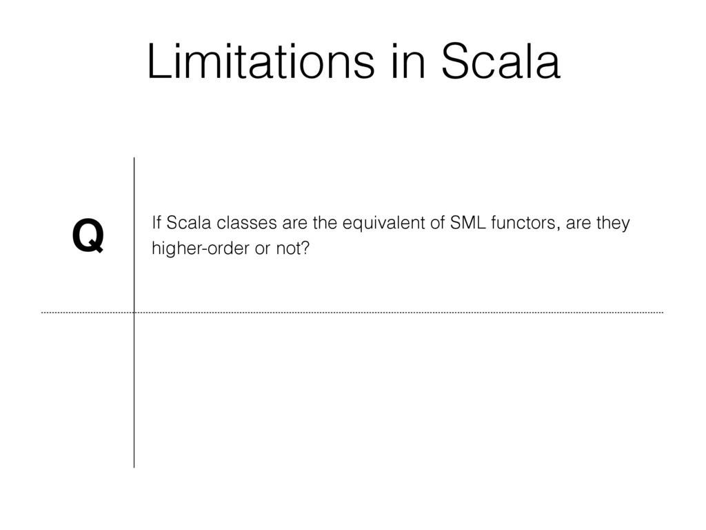 Limitations in Scala Q If Scala classes are the...