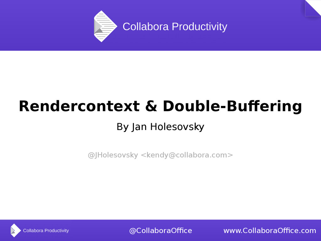 Rendercontext & Double-Buffering By Jan Holesov...