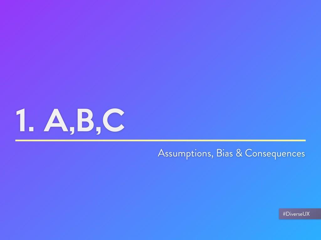 1. A,B,C Assumptions, Bias & Consequences #Dive...