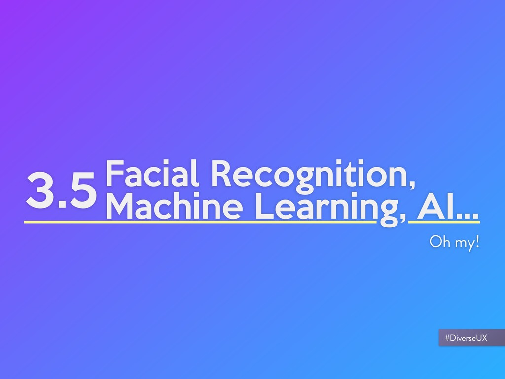 3.5Facial Recognition, Machine Learning, AI... ...