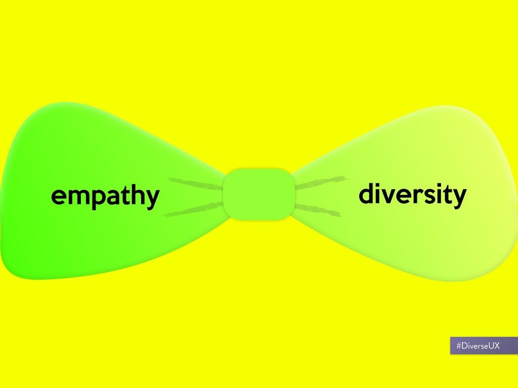 empathy diversity #DiverseUX