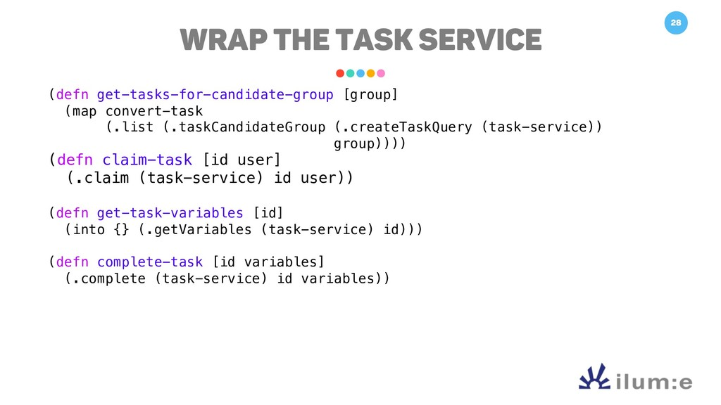 28 Wrap the TASK Service (defn get-tasks-for-ca...