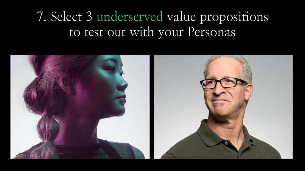 7. Select 3 underserved value propositions to t...