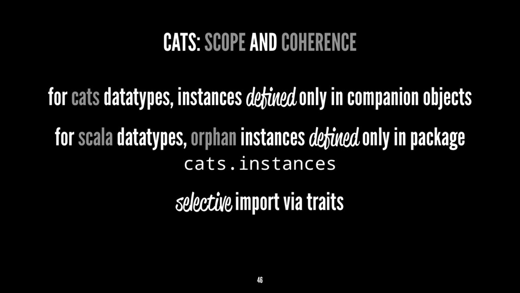 CATS: SCOPE AND COHERENCE for cats datatypes, i...