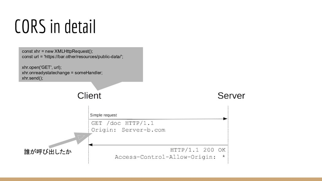 CORS in detail const xhr = new XMLHttpRequest()...