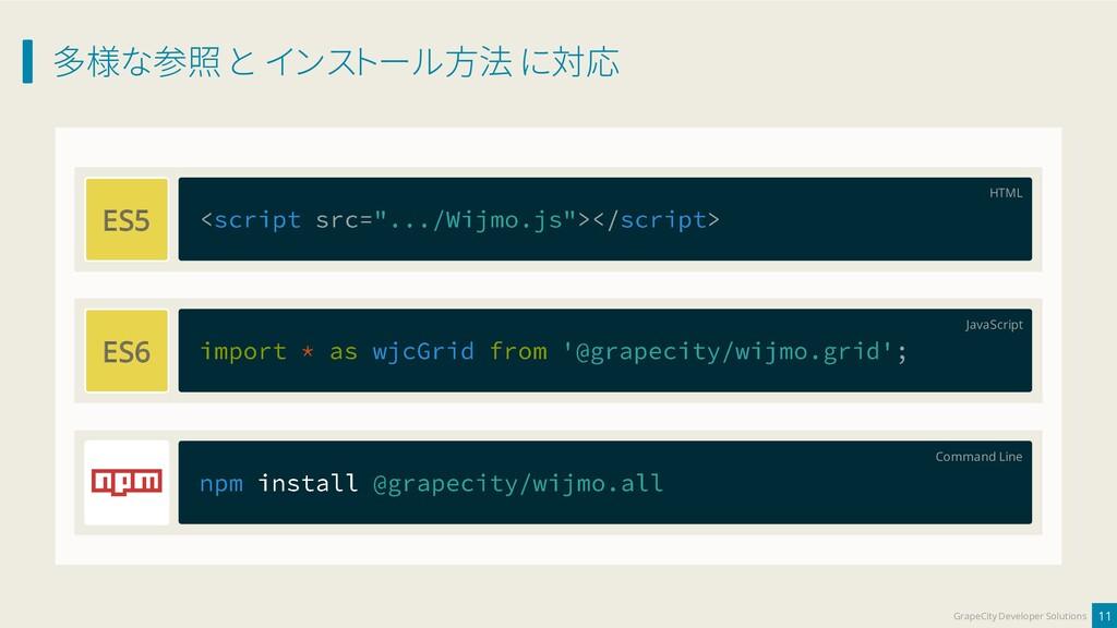 多様な参照 と インストール方法 に対応 11 GrapeCity Developer Sol...