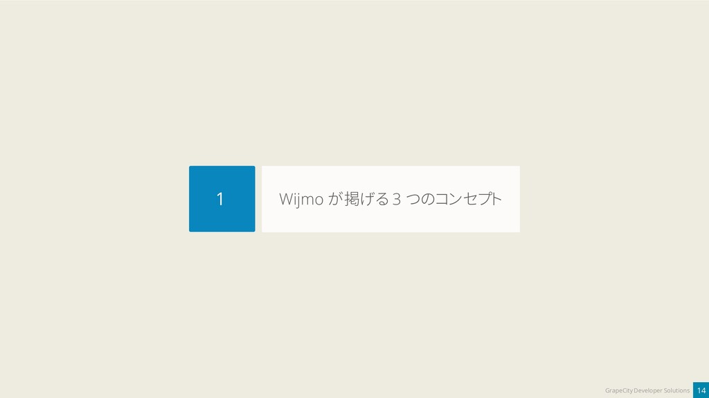 14 GrapeCity Developer Solutions Wijmo が掲げる 3 つ...