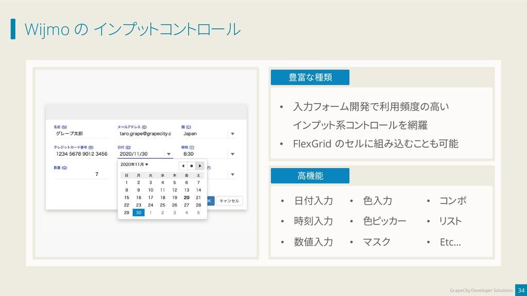 Wijmo の インプットコントロール 34 GrapeCity Developer Solu...