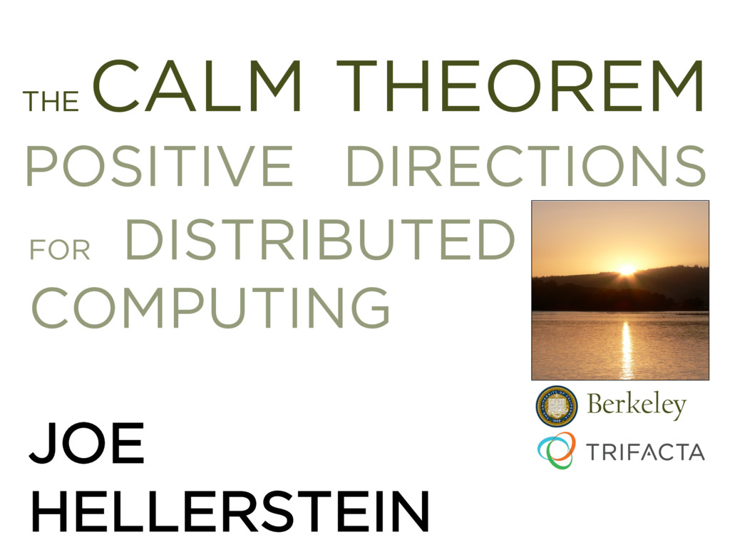 THE CALM THEOREM POSITIVE DIRECTIONS xxx FOR DI...