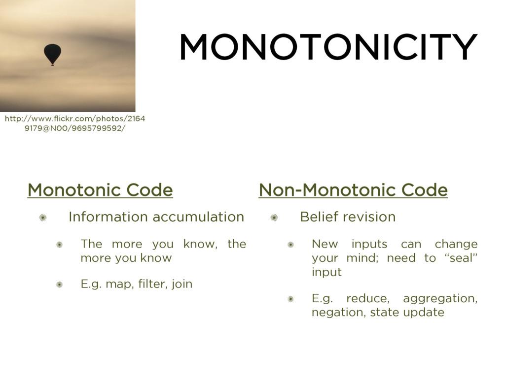 MONOTONICITY Monotonic Code ✺ Information accum...