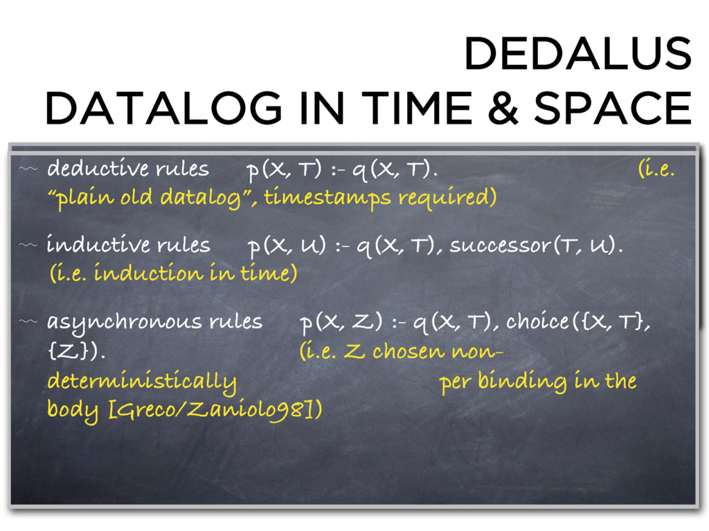 DEDALUS DATALOG IN TIME & SPACE 〰 deductive rul...