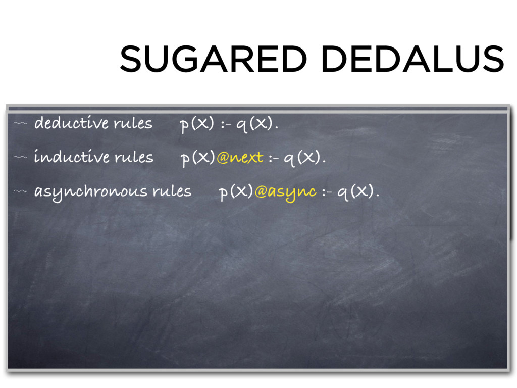 SUGARED DEDALUS 〰 deductive rules