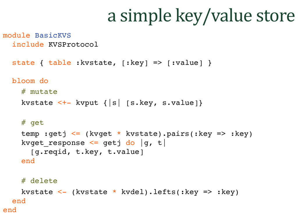 a simple key/value store module BasicKVS includ...