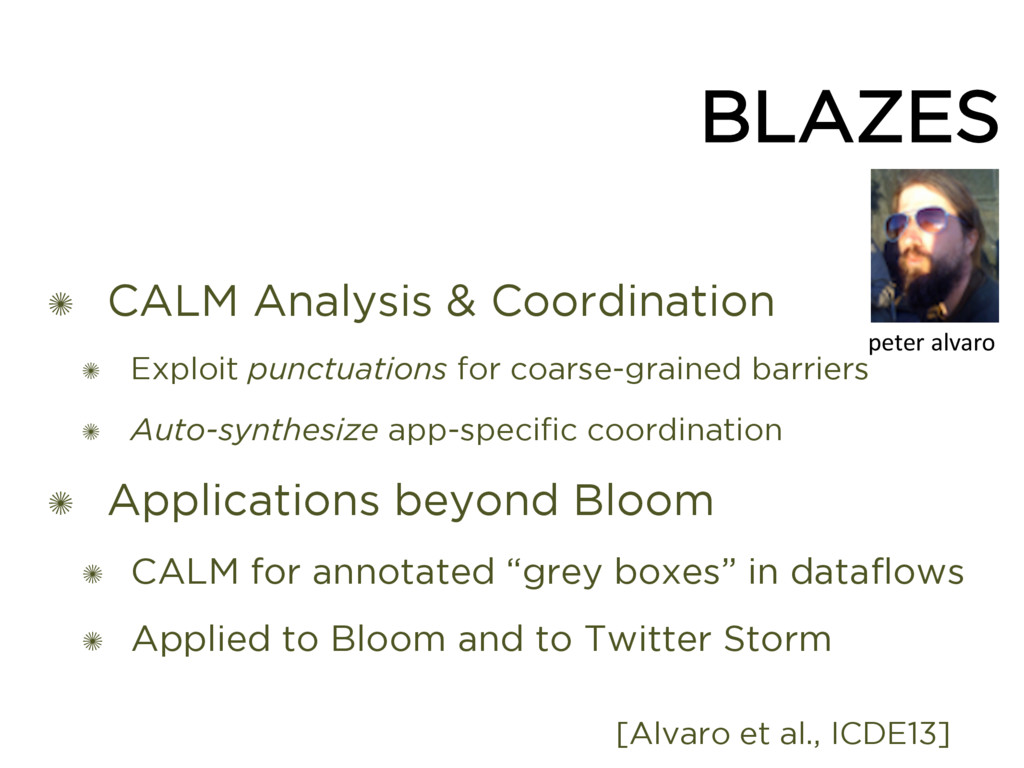 BLAZES ✺ CALM Analysis & Coordination ✺ Exploit...