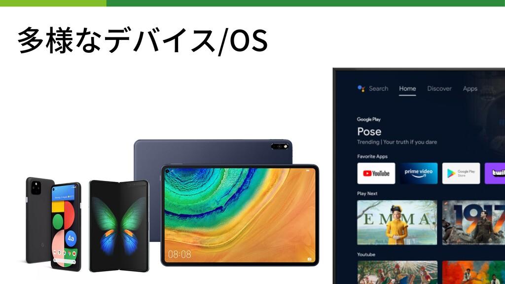 多様なデバイス/OS