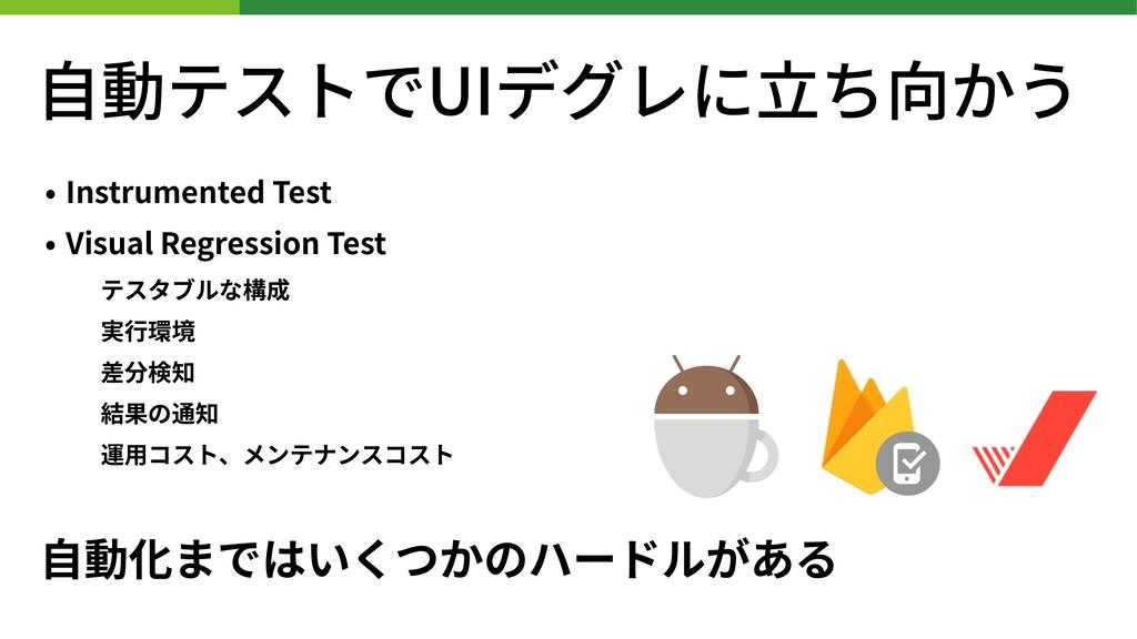 • Instrumented Test • Visual Regression Test テス...