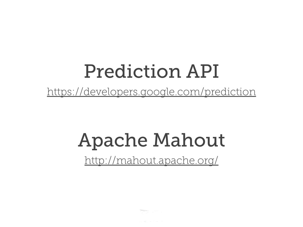 Headline should look like this Prediction API h...