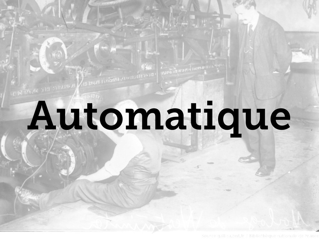 Headline should look like this Automatique