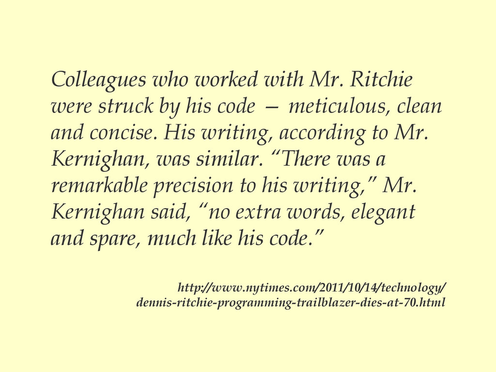 Colleagues who worked with Mr. Ritchie were str...