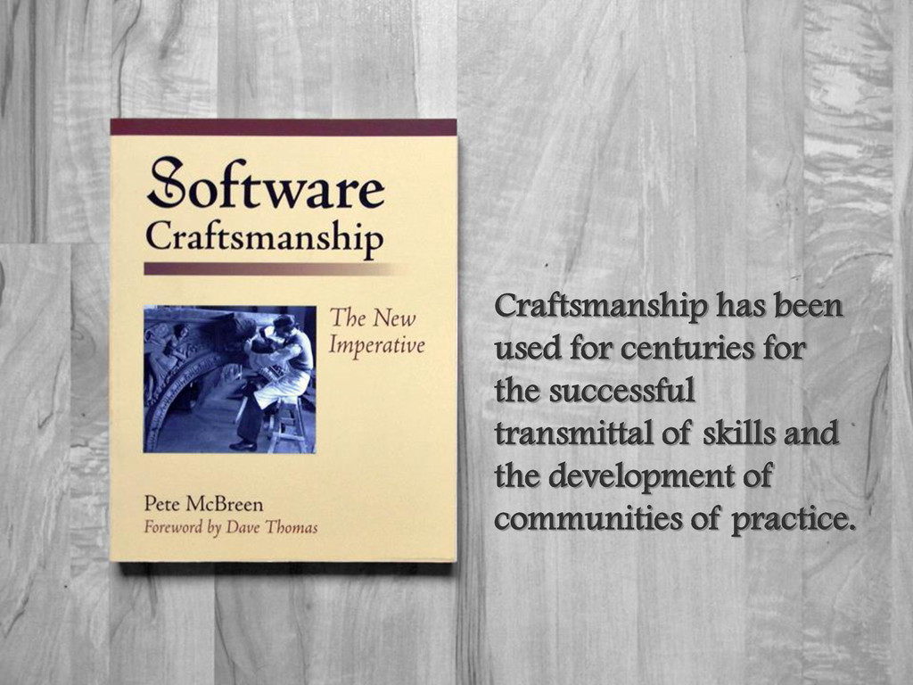 Craftsmanship has been used for centuries for t...