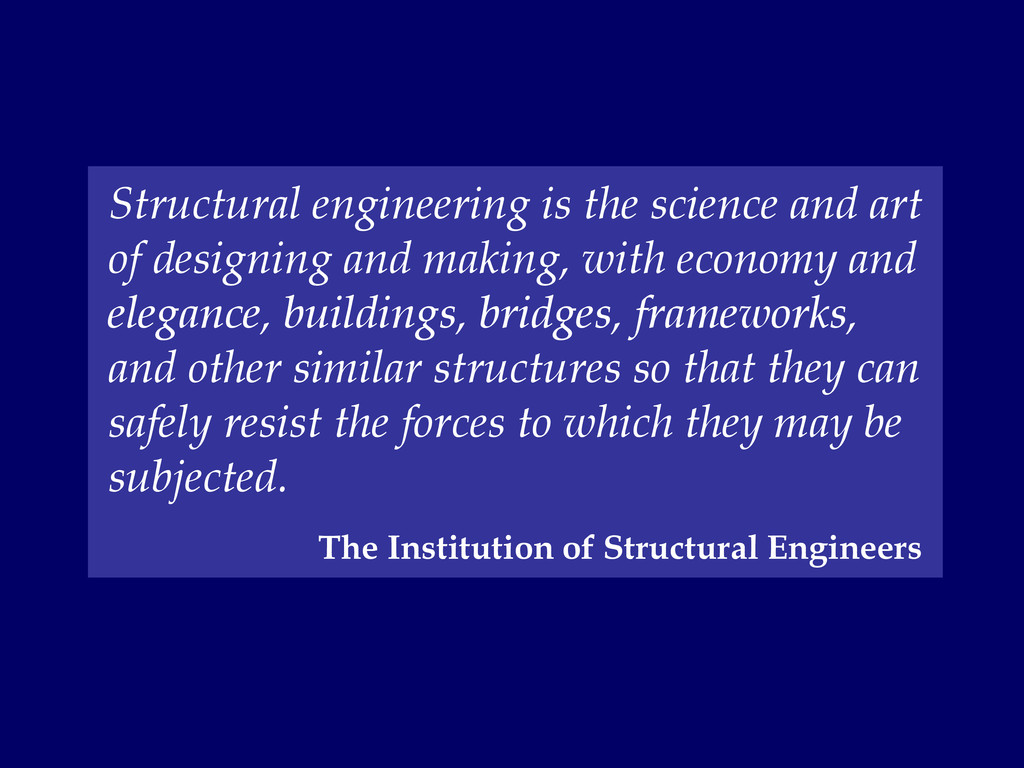 Structural engineering is the science and art o...