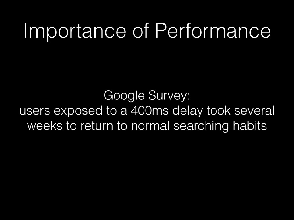 Importance of Performance Google Survey: users ...